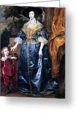 Queen Henrietta Maria (1609-69) Greeting Card