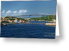 Queen Juliana Bridge  Queen Emma Bridge Curacao Greeting Card
