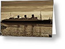 Queen Mary In Sepia Greeting Card