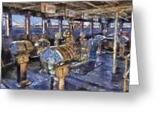 Queen Mary Ocean Liner Bridge 01 Photo Art 02 Greeting Card