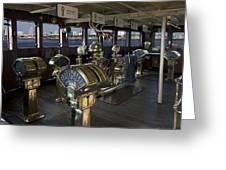 Queen Mary Ocean Liner Bridge 01 Greeting Card