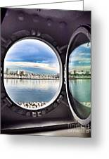 Queen Mary Starboard View Greeting Card