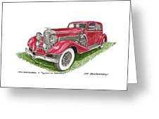 Queen Of Diamonds 1933 Duesenberg Model J Greeting Card