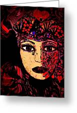 Queen Of Hearts Greeting Card by Natalie Holland