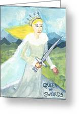Queen Of Swords Greeting Card