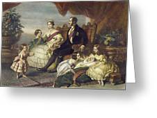 Queen Victoria & Family Greeting Card
