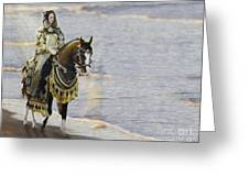 Queens War Horse Greeting Card