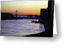 Queensboro Bridge At Night - Manhattan Greeting Card
