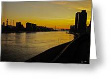 Queensboro Bridge At Sunset - Nyc Greeting Card