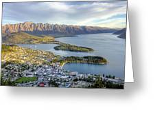 Queenstown Sunset Greeting Card