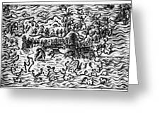Queiros Voyages, 1613 Greeting Card