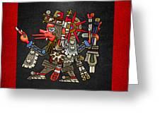 Quetzalcoatl In Human Warrior Form - Codex Borgia Greeting Card