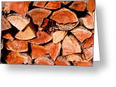 Quick Trick Wood Stack Greeting Card