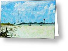 Quiet Beach Day Greeting Card