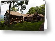 Quiet Cabin On A Hill Greeting Card