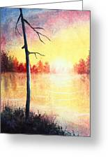Quiet Evening By The River Greeting Card