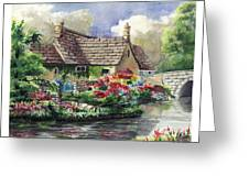 Quiet House Along The River Greeting Card