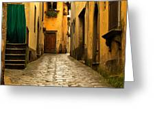 Quiet Lane In Tuscany 1 Greeting Card