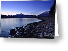 Quiet Night By The Lake Greeting Card