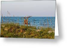 Quiet On The Beach Greeting Card