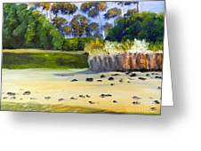 Quiet Sand By The Creek Greeting Card