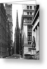 Quiet Sunday On Wall Street Greeting Card