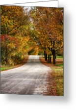 Quiet Vermont Backroad Greeting Card