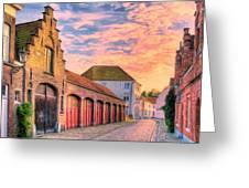 Quiet Village Sunset Greeting Card