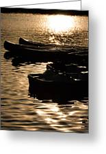 Quiet Waters At Sunset Greeting Card