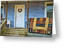 Quilt On The Front Porch Greeting Card