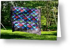 Quilt Top In The Breeze Greeting Card