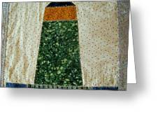 Quilt Work Of The Chambers Island Lighthouse Greeting Card