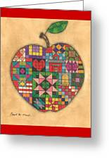 Quilted Apple Greeting Card