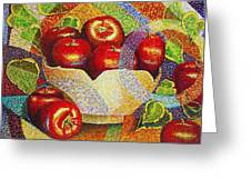 quilted Apples Greeting Card