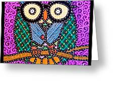 Quilted Dr Owl Greeting Card
