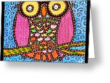 Quilted Judge Owl Greeting Card