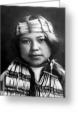 Quinault Indian Girl Circa 1913 Greeting Card