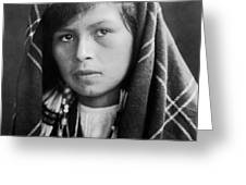Quinault Indian Woman Circa 1913 Greeting Card by Aged Pixel