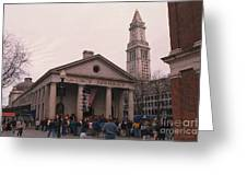 Quincy Market - Boston Massachusetts Greeting Card