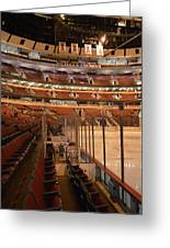 Quite Time Chicago United Center Before The Gates Open Vertical Greeting Card