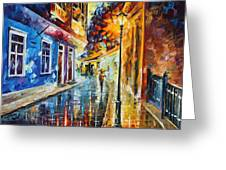 Quito Ecuador - Palette Knife Oil Painting On Canvas By Leonid Afremov Greeting Card