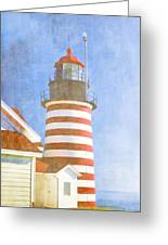 Quoddy Lighthouse Lubec Maine Greeting Card