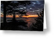 Quoddy Sunrise Greeting Card