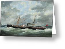 R. Bell And Co.s Steamship Bothal In A Heavy Swell Greeting Card