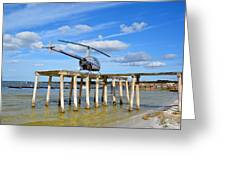 R22 On A Dock Greeting Card
