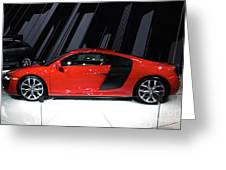 R8 In Red Greeting Card by Alan Look