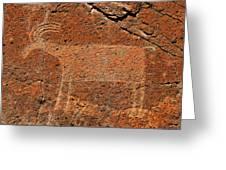 Big Horn Sheep Rock Art B Greeting Card