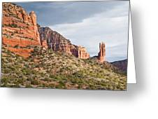 Rabbit Ears Spire At Sunset Greeting Card