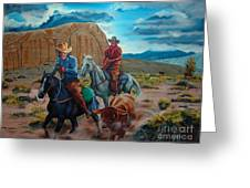 Rabbitbrush Round-up Greeting Card