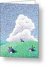 Rabbits At Rest Greeting Card